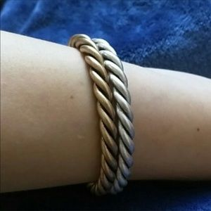 Jewelry - NWT Just In!! Sterling or Gold Plated Twisted Cuff